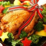 ローストチキンのクリスマス飾りはどうやる?【画像】